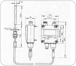 306s冷库高低压开关接线图